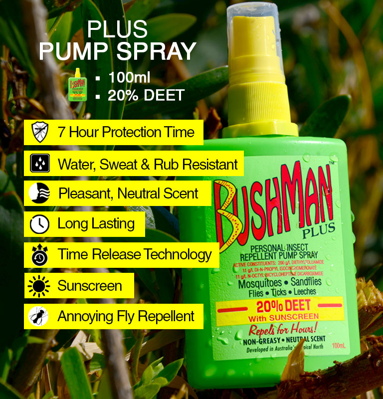 Bushman plus pump spray information